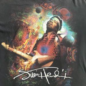 Jimi Hendrix Distressed T Shirt
